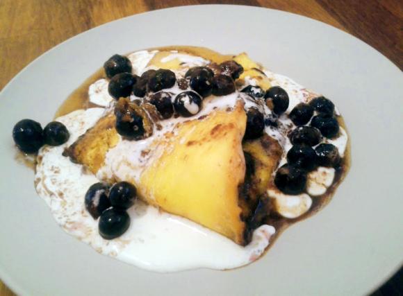 Omlet naturalny z borówką amerykańską